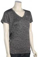 Under Armour Tech V-Neck Women's T-Shirt - Black / Metallic Silver