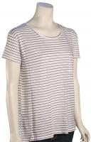 Volcom Lived In Stripe Women's T-Shirt - Gunmetal Grey