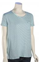 Volcom Lived In Stripe Women's T-Shirt - Navy