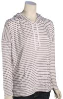Volcom Lived In Stripe Women's Pullover Hoody - Gunmetal Grey