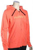 Hurley One and Only Icon Women's Zip Hoody - Heather / Bright Crimson