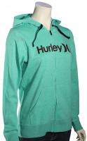 Hurley One and Only Icon Women's Zip Hoody - Heather / Green Glow