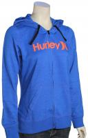 Hurley One and Only Icon Women's Zip Hoody - Hyper Cobalt / Orange