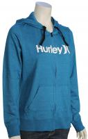 Hurley One and Only Icon Women's Zip Hoody - Heather Green Abyss