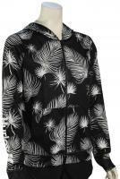 Hurley One and Only Floreetah Women's Zip Hoody - Black / Palm
