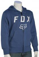 Fox Boy's Legacy Moth Zip Fleece Hoody - Dusty Blue