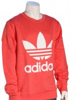 Adidas Kid's Trefoil Crew Sweater - Real Pink / White