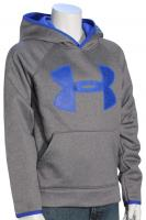 Under Armour Boy's Big Logo Pullover Hoody - Graphite / Ultra Blue
