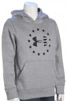 Under Armour Kid's Freedom Logo Rival Hoody - True Grey Heather / Black