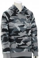 Under Armour Boy's Rival Printed Pullover Hoody - Mod Grey / White