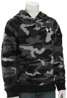 Under Armour Boy's Rival Printed Pullover Hoody - Black / White
