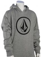 Volcom Boy's Stone Pullover Hoody - Heather Grey