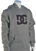 DC Boy's Star Pullover Fleece Hoody - Heather Grey