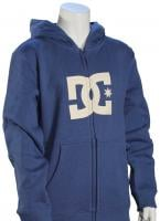 DC Boy's Star Zip Fleece Hoody - Washed Indigo