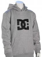 DC Boy's Star Pullover Fleece Hoody - Grey Heather