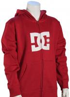 DC Boy's Star Zip Fleece Hoody - Rio Red