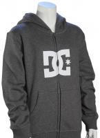 DC Boy's Star Zip Fleece Hoody - Charcoal Heather