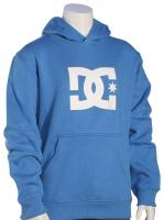 DC Boy's Star Pullover Fleece Hoody - Campanula / Snow White