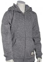 Quiksilver Boy's Keller Zip Fleece Hoody - Light Grey Heather