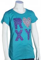 Roxy Girl Out of Sequins T-Shirt - Turquoise
