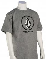 Volcom Boy's New Circle T-Shirt - Heather Grey