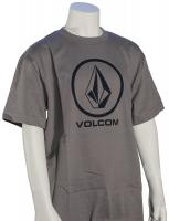 Volcom Boy's New Circle Too T-Shirt - Dark Grey