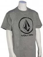 Volcom Boy's Lino Stone T-Shirt - Heather Grey