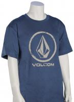 Volcom Boy's Lino Stone T-Shirt - Smokey Blue