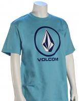 Volcom Boy's Crisp Stone SS T-Shirt - Blue Bird
