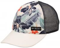 Roxy Girl's Just Ok Hat - Marshmallow / Blue Floral