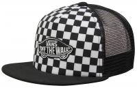 Vans Boy's Classic Patch Trucker Hat - Black / White Checkerboard