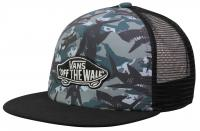Vans Boy's Classic Patch Trucker Hat - Shark Camo