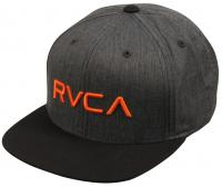 RVCA Boy's Twill Snapback Hat - Charcoal Heather