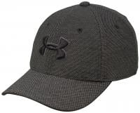 Under Armour Boy's Heathered Blitzing Hat - Black Heather/ Black