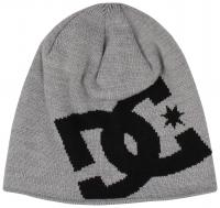 DC Boy's Big Star Beanie - Heather Grey / Black