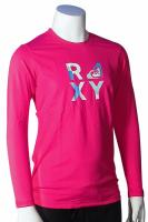 Roxy Girl's Check Mate LS Rash Guard - Berry