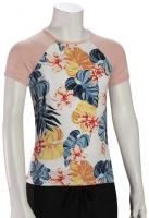 Roxy Girl's Beautiful Mind SS Rash Guard - Bright White