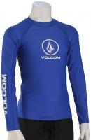 Volcom Boy's Lido Solid LS Rash Guard - Royal