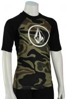Volcom Boy's Lido Solid SS Rash Guard - Camo