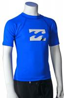 Billabong Boy's All Day SS Rash Guard - Royal Blue