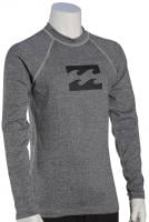 Billabong Boy's All Day Wave LS Rash Guard - Grey Heather