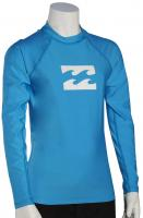 Billabong Boy's All Day Wave LS Rash Guard - New Blue