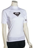 Roxy Whole Hearted SS Rash Guard - White