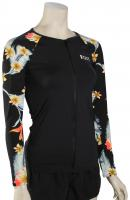 Roxy Dreaming Day LS Zip Rash Guard - Anthracite / Tropical Love