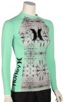 Hurley Women's One & Only LS Rash Guard - Enamel Green