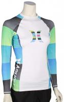 Hurley Women's One & Only LS Rash Guard - Multi