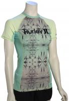 Hurley Women's One & Only SS Rash Guard - Enamel Green
