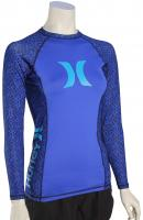 Hurley Women's One & Only LS Rash Guard - Loyal Blue