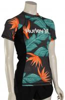 Hurley Women's Hanoi SS Rash Guard - Black