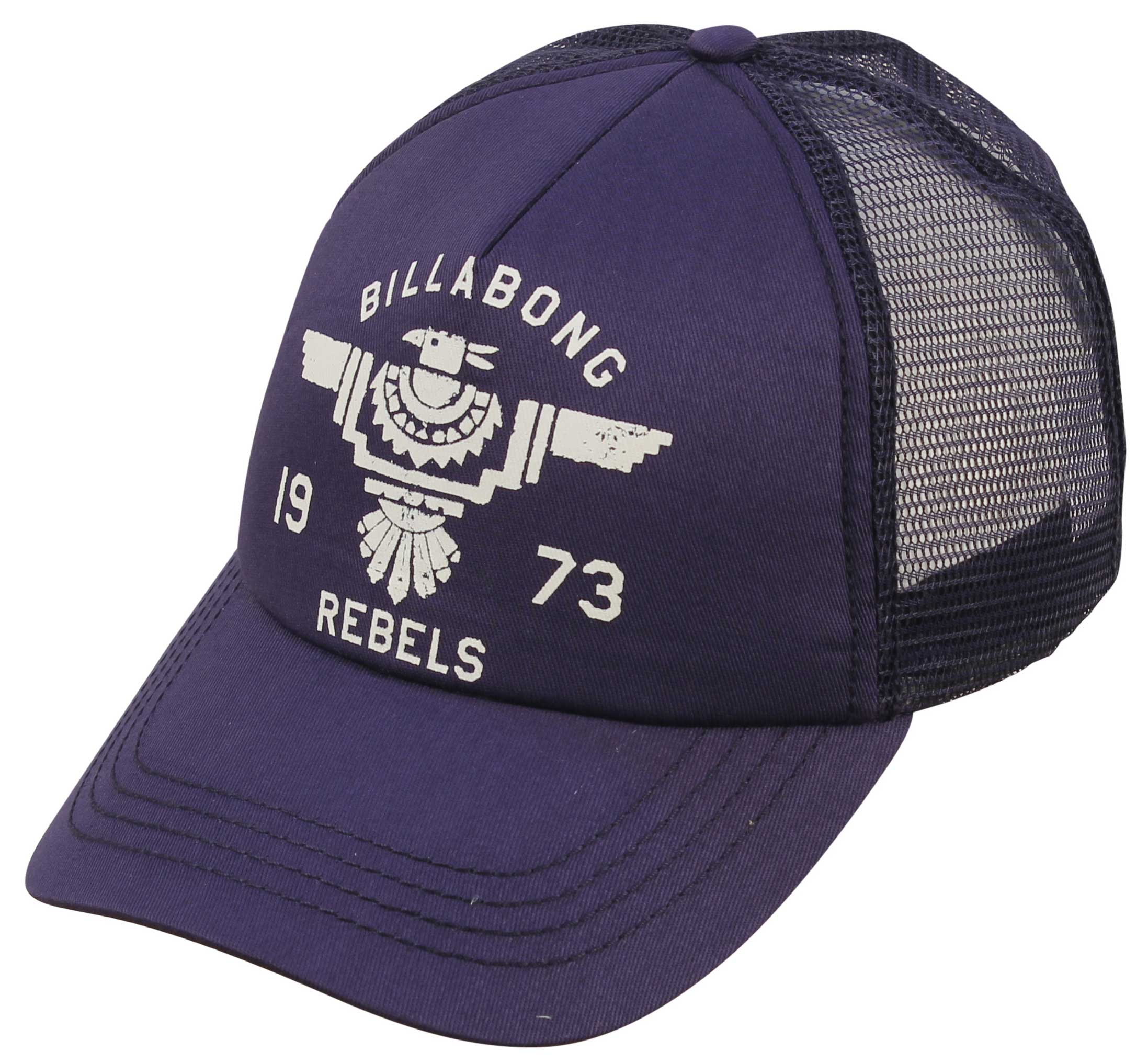 billabong rebel play s trucker hat blue